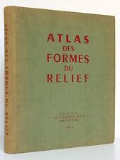 Atlas des formes du relief. Institut Géographique Nat. 1956 Cartes anaglyphiques