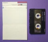 MC Musicassetta SONY UX 90 ux90 vintage compact cassette audio tape USATA no tdk