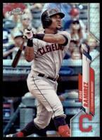 2020 Topps Chrome Base Prizm Refractor #190 Jose Ramirez - Cleveland Indians