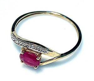 Magnificent Ring Gold 18 Gold - Ruby And Diamonds - 0.80 G