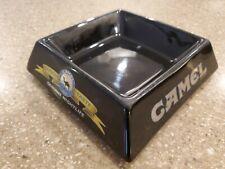 Vintage 1995 CAMEL Ashtray Genuine Taste Genuine Nightlife Black Ceramic ashtray