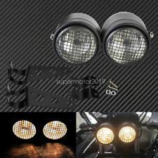 Grill Twin Headlight Motorcycle Motorbike Dual Lamp w/ Bracket Street Fighter