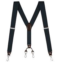 """Buyless Fashion Suspenders Men - 48"""" Elastic Adjustable Straps 1 1/4"""" - Y Back"""