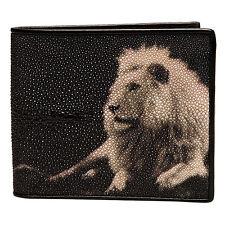 Stingray Bi-Fold Genuine Leather Lion Print Wallet