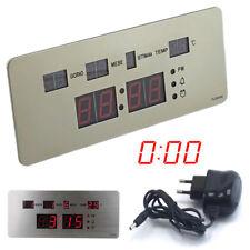 orologio a led ufficio digitale da tavolo parete data ora temperatura da casa