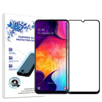 For Samsung Galaxy A70 2019 Full Cover Tempered Glass Screen Protector -Black