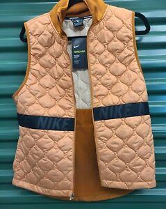 Nike Women's AeroLayer Burnt Sienna/Black Running Vest (BV3869-857) Size Medium