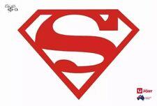 Superman Logo Vinyl Car Fuel Tank Sticker Decal Red