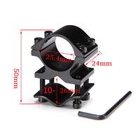 "Tactical 1"" Ring QD Bike Flashlight Scope Shotgun Rifle Barrel Mount Fixture"