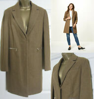 NEW M&S Marks & Spencer Wool Blend Coat Jacket Single Breasted Brown Size 8-22