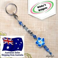 Personalised Frangipani Keyring (you pick design) gift idea Key Chain Ring Fobs