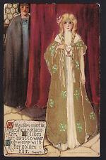 c1908 Schmucker Fairy Queen series Roses by Rossetti Mottoes postcard