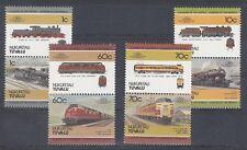 D. Eisenbahn - Lokomotiven   Tuvalu  Nukufetau  31 - 38  **  (mnh)