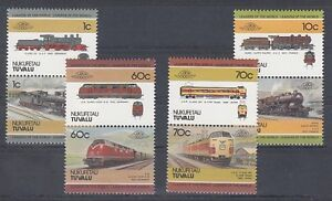 Le Chemin de Fer - Locomotives Tuvalu Nukufetau 31 - 38 (MNH)