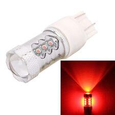 T20 Dual Wires 80W 4000LM Red Light 16 XT-E LED Car Brake Light Lamp Bulb for Ve