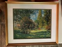 Framed Print The Parc Monceau Claude Monet French Art Matted Impressionism