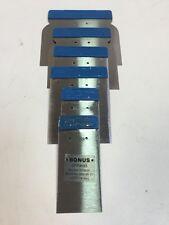 6 x Japanspachtel Spachtel Metallspachtel 50/80/100/120 mm Flächen