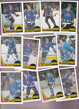 1987 OPC Team SET lot of 12 Quebec NORDIQUES NM/MT o-pee-chee STASTNY GOULET