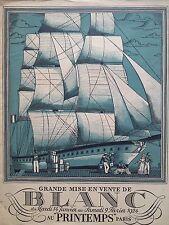 """CATALOGUE MODE """" AU PRINTEMPS"""" GRANDE MISE EN VENTE DE BLANC 1924"""