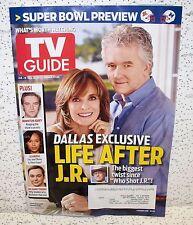 TV Guide Magazine January 28 2013 Dallas JR Patric Duffy Super Bowl