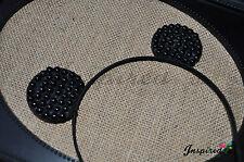 2 Beaded Ear Headband Mickey Mouse Christmas Birthday Party Gift Halloween Black
