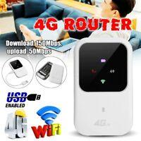 Portable LTE 4G (UNLOCKED) MOBILE BROADBAND WIFI MIFI HOTSPOT ROUTER 150Mbps