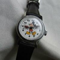 SEIKO Disney time Mickey Manual winding watch 8004-0100 Rare size