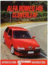 ALFA ROMEO 145 svincolo a quadrifoglio PROVA SU STRADA 1995-96 UK mercato opuscolo performance auto
