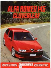 Alfa Romeo 145 Cloverleaf Road Test 1995-96 UK Market Brochure Performance Car