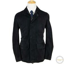 CURRENT Zegna Couture Midnight Blue Lamb Suede Quilted Lining Jacket 42R