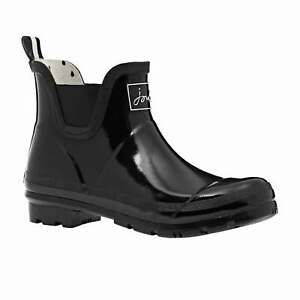Joules Wellibob Gloss Womens Boots Wellington - True Black All Sizes