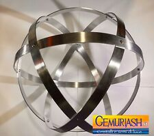 Genesa Pentasfera diametro 31 cm alluminio satinato argento profilo 1,5 cm