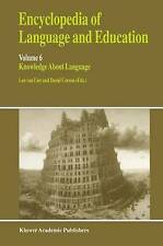 NEW Encyclopedia of Language and Education: Knowledge About Language