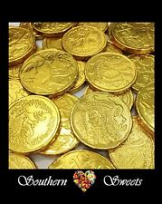 GOLD LOLLIES GOLD COINS IN MILK CHOCOLATE 750G  PIRATE TREASURE COINS