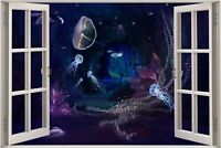 Huge 3D Window view Fantasy Underwater Wall Sticker Film Decal Wallpaper 685