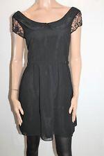 Ladakh Brand Black Lace Detail Collar Day Dress Size 10 BNWT #TL13