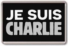FRIDGE MAGNET - JE SUIS CHARLIE - Large Jumbo - Hebdo Paris 10% to Charity