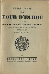 RARE EO N° 1929 + HENRY JAMES : LE TOUR D'ÉCROU + LES PAPIERS DE JEFFREY ASPERN