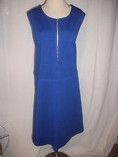 CALVIN KLEIN  Women's Plus Size BLUE  ZIPPER Sheath  Dress  22W NWT MSRP $139.50