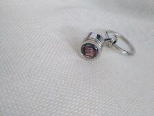 FIAT Metal Piston Car Keychain Keyfob Engine Fob Key Chain Ring Keyring Silver