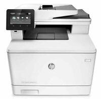 HP Laserjet Pro MFP M477fdw All-In-One Color Laser Printer - White/Gray