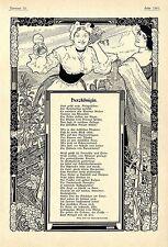 Prinz Emil von Schönaich- Carolath Patriotisches Gedicht Herzkönigin Schm...1904