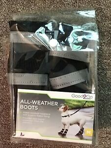 Good2Go All-Weather Boots for dogs, Med.  black,  2020