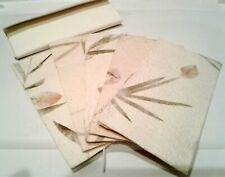 Handmade Floral Paper Stationary Set (5 envelopes and 5 matching sheets)