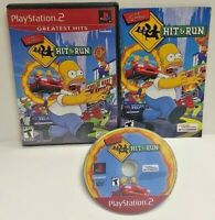 The Simpsons Hit & Run -  Playstation 2 PS2 Game Working / Tested Rare