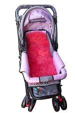 Véritable agneau bébé mouton mouton poussette landau liner housse de siège rose