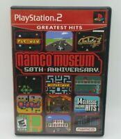 NAMCO MUSEUM: 50TH ANNIV. GAME FOR PLAYSTATION 2 PS2, GAME DISC, CASE, MANUAL