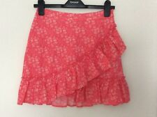 Topshop Liberty London Ivory and Pink Floral Print Skirt, UK Size 8 New