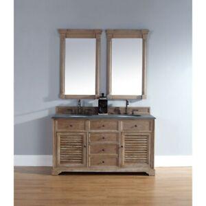 James Martin Savannah 60' double Vanity Cabinet, Driftwood - 238-104-5611