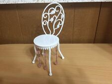 Barbie Doll Fashion Fever Crystal Bead Vanity Chair Bedroom Home Furniture Rare